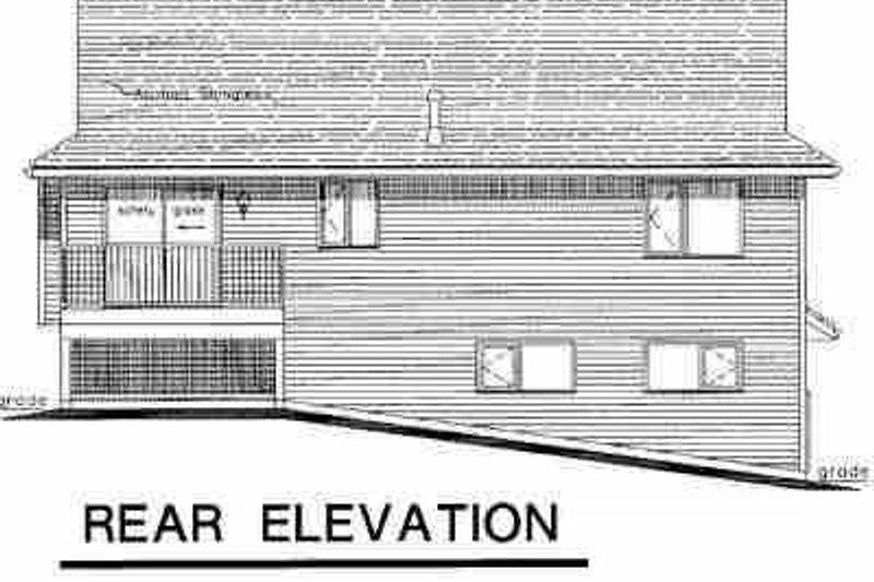 Traditional Exterior - Rear Elevation Plan #18-307 - Houseplans.com