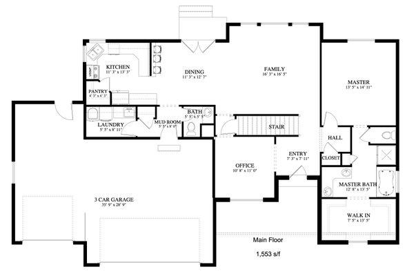Dream House Plan - Traditional Floor Plan - Main Floor Plan #1060-25