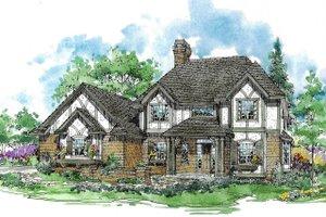 Tudor Exterior - Front Elevation Plan #970-10