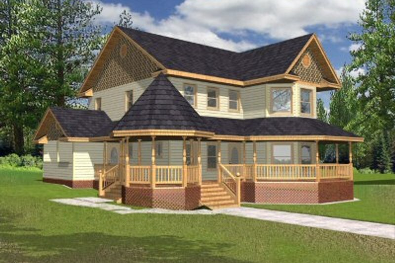 European Style House Plan - 3 Beds 3 Baths 2312 Sq/Ft Plan #117-136 Exterior - Front Elevation