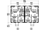 Ranch Style House Plan - 4 Beds 2 Baths 1664 Sq/Ft Plan #25-4514 Floor Plan - Main Floor Plan