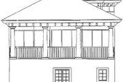 Mediterranean Style House Plan - 3 Beds 3.5 Baths 1949 Sq/Ft Plan #115-145 Exterior - Rear Elevation