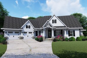 Architectural House Design - Farmhouse Exterior - Front Elevation Plan #120-255