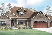 Craftsman Style House Plan - 4 Beds 2.5 Baths 2414 Sq/Ft Plan #124-886 Exterior - Front Elevation