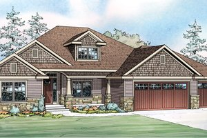 Craftsman Exterior - Front Elevation Plan #124-886