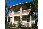 Beach Style House Plan - 3 Beds 4 Baths 2383 Sq/Ft Plan #443-1 Exterior - Front Elevation