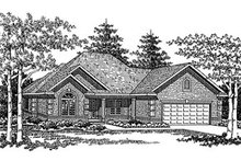 Dream House Plan - European Exterior - Front Elevation Plan #70-442