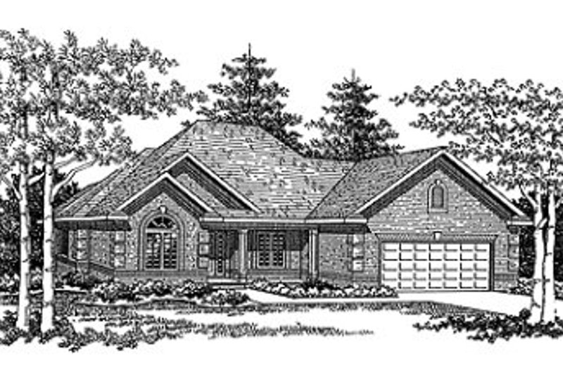 Dream House Plan - European Exterior - Front Elevation Plan #70-442