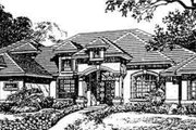 European Style House Plan - 4 Beds 5 Baths 4735 Sq/Ft Plan #135-109 Exterior - Front Elevation