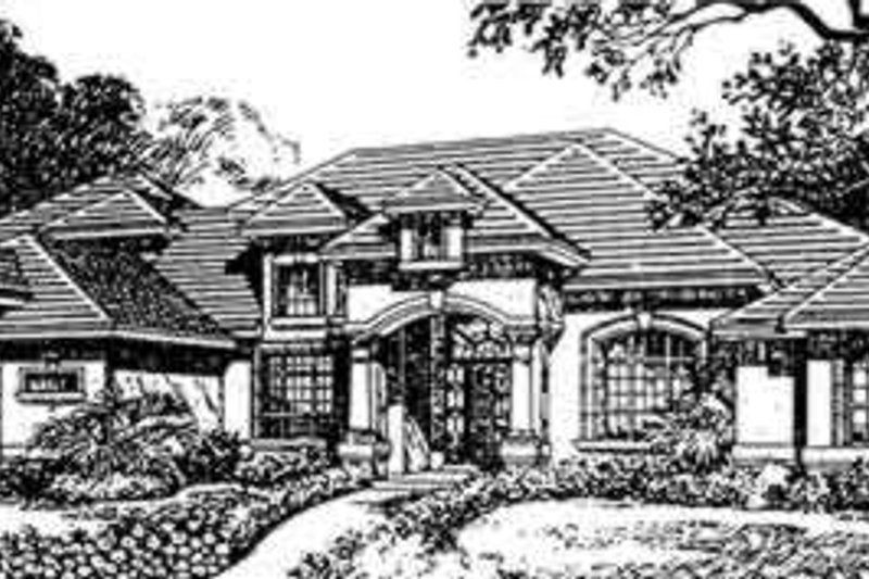 European Style House Plan - 4 Beds 5 Baths 4735 Sq/Ft Plan #135-109