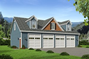 House Blueprint - Traditional Exterior - Front Elevation Plan #932-407