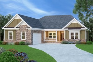 Craftsman Exterior - Front Elevation Plan #419-109