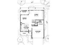 Modern Floor Plan - Main Floor Plan Plan #472-8