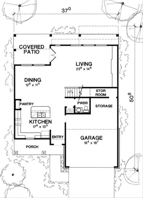 Modern Floor Plan - Main Floor Plan Plan #472-8