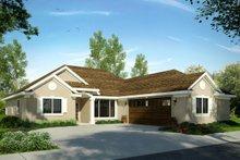 House Plan Design - Mediterranean Exterior - Front Elevation Plan #124-1021
