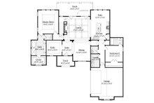 European Floor Plan - Main Floor Plan Plan #1071-17