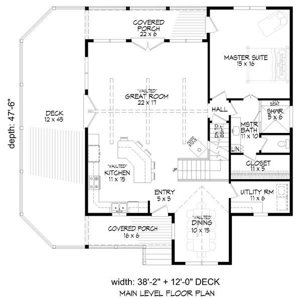 House Plan Design - Cabin Floor Plan - Main Floor Plan #932-344