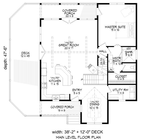 Dream House Plan - Cabin Floor Plan - Main Floor Plan #932-344