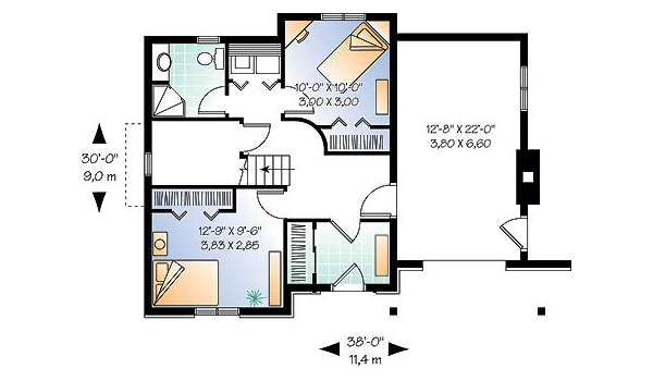Traditional Floor Plan - Lower Floor Plan Plan #23-453