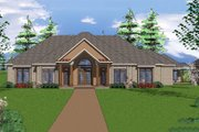 European Style House Plan - 3 Beds 2.5 Baths 2829 Sq/Ft Plan #8-104 Exterior - Front Elevation
