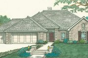 Traditional Style House Plan - 3 Beds 2 Baths 1577 Sq/Ft Plan #310-288 Exterior - Front Elevation