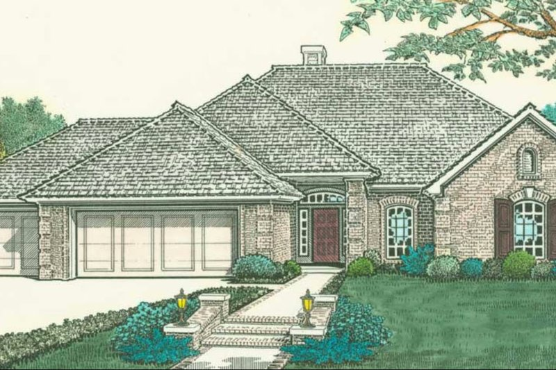 Traditional Style House Plan - 3 Beds 2 Baths 1577 Sq/Ft Plan #310-288