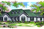 Traditional Style House Plan - 3 Beds 2 Baths 2648 Sq/Ft Plan #45-206 Exterior - Front Elevation