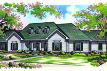 Home Plan Design - Traditional Exterior - Front Elevation Plan #45-206