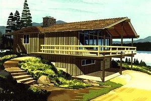 Cabin Exterior - Front Elevation Plan #320-404