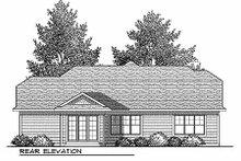 Craftsman Exterior - Rear Elevation Plan #70-900