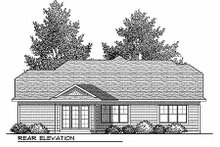 Dream House Plan - Craftsman Exterior - Rear Elevation Plan #70-900