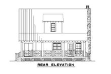 Dream House Plan - Country Exterior - Rear Elevation Plan #17-2014