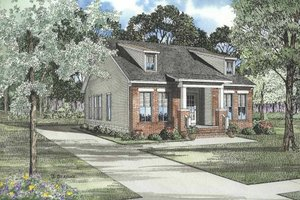 Southern Exterior - Front Elevation Plan #17-439