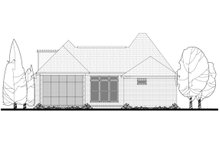 House Plan Design - European Exterior - Rear Elevation Plan #430-85