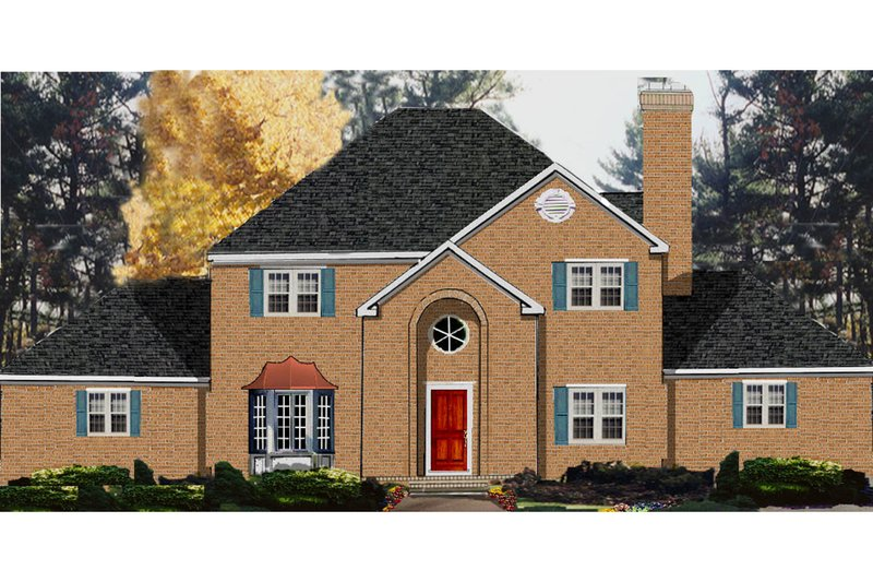 Dream House Plan - European Exterior - Front Elevation Plan #3-293