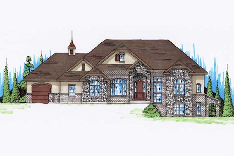 Traditional Style House Plan - 5 Beds 3.5 Baths 2247 Sq/Ft Plan #5-270 Exterior - Front Elevation
