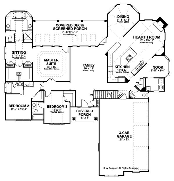 Traditional Floor Plan - Main Floor Plan Plan #56-541