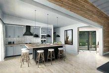 Contemporary Interior - Kitchen Plan #924-1
