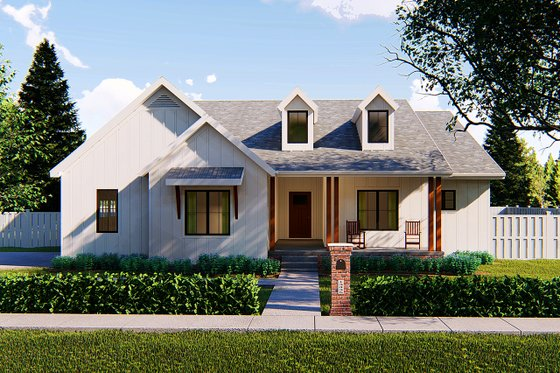 Farmhouse Exterior - Front Elevation Plan #455-211