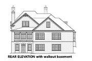 European Style House Plan - 5 Beds 4 Baths 3695 Sq/Ft Plan #429-42 Exterior - Rear Elevation