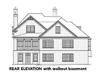 European Exterior - Rear Elevation Plan #429-42