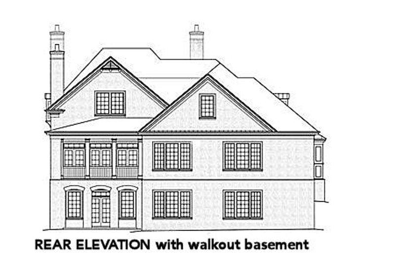 European Exterior - Rear Elevation Plan #429-42 - Houseplans.com