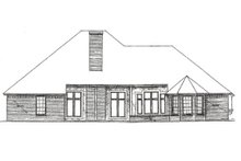 Craftsman Exterior - Rear Elevation Plan #310-371