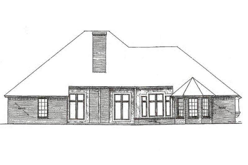 Craftsman Exterior - Rear Elevation Plan #310-371 - Houseplans.com