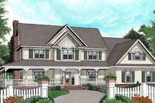 Home Plan - Country Exterior - Front Elevation Plan #11-228