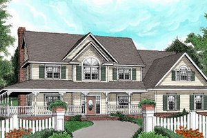 Architectural House Design - Country Exterior - Front Elevation Plan #11-228