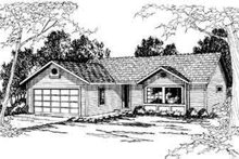Ranch Exterior - Front Elevation Plan #124-286