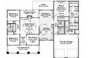Craftsman Style House Plan - 3 Beds 2.5 Baths 2067 Sq/Ft Plan #21-248 Floor Plan - Main Floor Plan