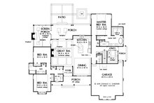 Farmhouse Floor Plan - Main Floor Plan Plan #929-1086