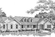 Ranch Style House Plan - 3 Beds 2 Baths 2514 Sq/Ft Plan #57-191 Exterior - Front Elevation